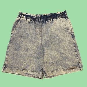Vintage jordache acid wash mom short 14 paper bag